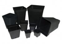 Black Square Pot