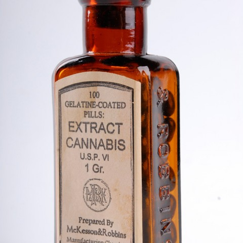 Old Cannabis Medicine Bottle 01